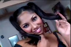 Jasmine in Pigtails Fucks Zenza Hard