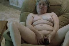 Granny's new toy on webcam