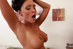 Hot Brunette MILF Sucks Cock And Fucks