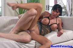 Busty real girlfriend milf slammed