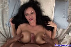 Hot MILF Wife Sucks And Slides On Cock
