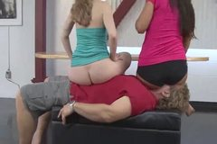 Mistress Samantha Bums on his face