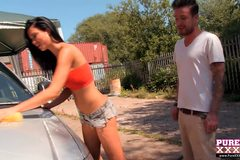 Jasmine Jae carwash and cum wash