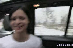 Busty amateur babe banging in fake taxi POV