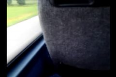 bus cum public masturbation with condom
