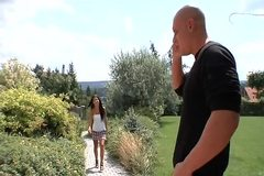 Czech Brunette Rihanna Samuel Fucked in the Ass