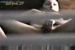 Another girl masturbating in hotel room through window - voyeur hidden spycam