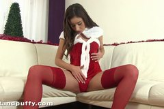 Santas little helper has some anal fun