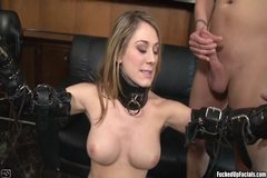 Amber Ashlee Enjoys Taking On Four Huge Cocks