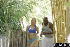 Sexy Blonde Ash Hollywood Cheats with Her BBC Trainer