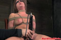 G string tied blindfolded sub toy pleased