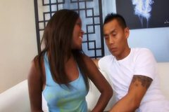 AMBW Candice Nicole interracial with Asian guy