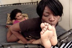 Lesbian Foot Love   black and latina