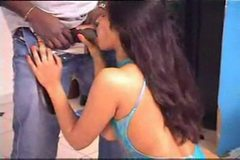 BBC Rams Big Tit Indian Girls Throat and Cunt