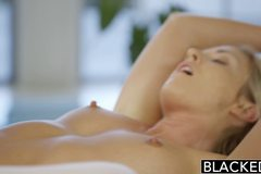 Beautiful blonde Karla Kush loves massaging BBC