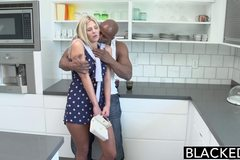 Preppy Blonde Girl Loves Big Black Dick