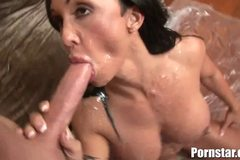 Busty Brunette Porn Star Gets A Bukakke Like No Other
