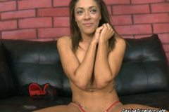 Cutie Latina Takes A Hot Gagging