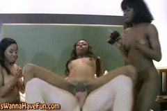 Amateur black chick fucks