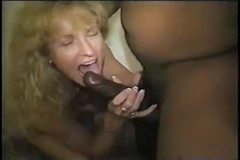 Mature slutty white wife takes black seed