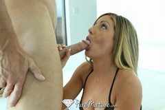 Elegant MILF dicked by room service cock