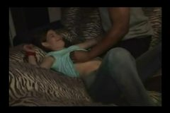 Young slut wife gangbanged at home by black friends
