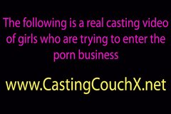 Shy teen tricked on the castingcouch