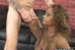 Miss Curly On A Spit Squeezing Rough Sucking