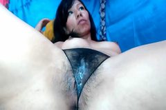 wet dripping pussy in panty 1
