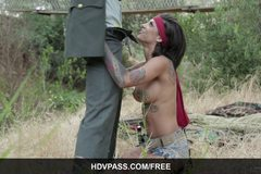 Bonnie Rotten Sucks Cock Before Getting Drilled Hard Outdoors