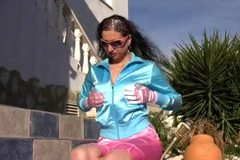 Piss: satin sport-dress