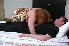 Mature Chubby Mom in Stockings with Son's friend