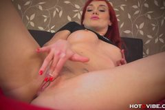 Delicious Redhead Pleasures Herself