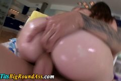 Curvy big titted booty babe fucked