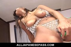 No Sound: MILF in rhinestones fingers and toys her trimmed pussy