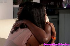 Ebony Alia Starr and Ana Foxx eating pussy