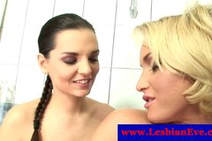 Kathia Nobili and Eve Angel in bathtub