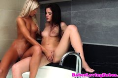 Caprice and Lola MyLuv les fun in the bath