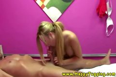 Blonde asian hottie nails her client