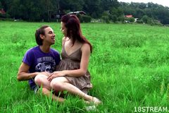 Stunning teen sex in nature