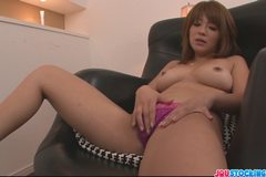 Pretty and eager Asian babe finger fucking