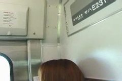 japanese nice girl in train grouping -uncen-