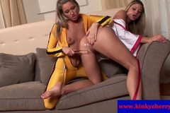 Monica Sweetheart and Cherry Jul lesbians using tools