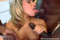 4 Huge Black Cocks For Hot Blonde Chick