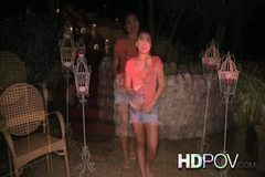 Honeymoon with young Asian wife looking at you with love
