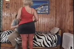 Hot Granny Cougar Erin Riding and Doggy