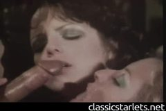 Juliet Anderson in Vintage Interracial Threesome
