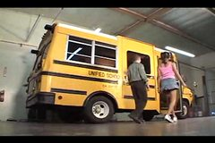 Lily Thai gets fucked in the school bus