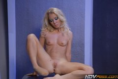 Tight Blonde Nicki Blue Sucks and Rides Space Cock