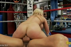 Hot Blonde Gets Pounded In The Boxing Ring!